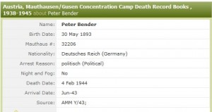 Bender Death Record