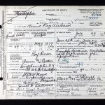 Annie Ray Andrews Death Certificate