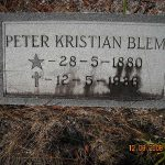 "Peter Blem Grave (from ""Find-A-Grave)"